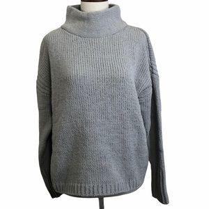 Philosophy gray chenille mock neck sweater.